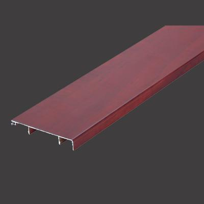 60mm Wood Color Aluminum Skirting Board With Different Aluminium Thickness + TP-60