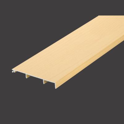 100mm Width Light Wood Color Aluminum Skirting Board + TP-100